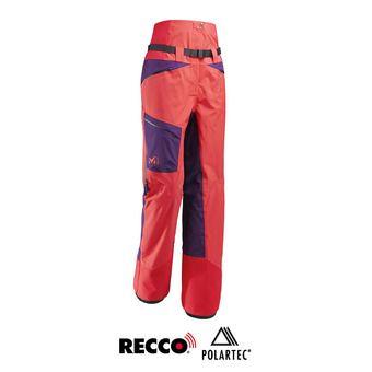 Pantalón de esquí mujer WHITE NEO CARGO poppy red/black berry