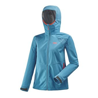 Veste à capuche femme TOURING SHIELD cosmic blue