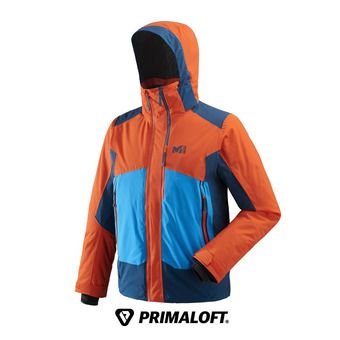 Veste de ski homme 7/24 STRETCH orange/poseidon