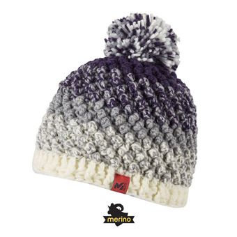 Gorro mujer SUNNY cloud dancer/black berry