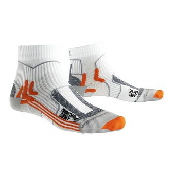 X-Socks MARATHON ENERGY - Socks - white /orange/grey