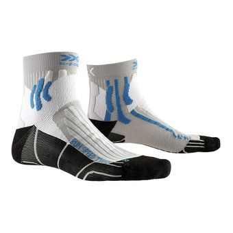 X-Socks RUN SPEED 2 - Calze grigio perle/blu/nero