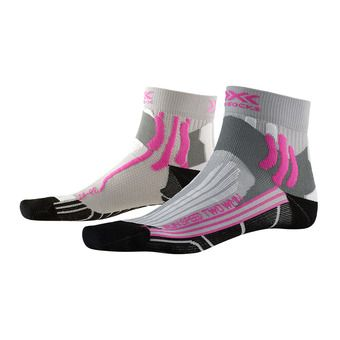 X-Socks RUN SPEED 2 - Calcetines mujer gris perla/fucsia/negro