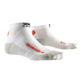 Chaussettes de running RUN DISCOVERY blanc/gris dolomite
