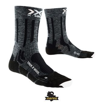 X-Socks TREK X LINEN - Socks - anthracite/black