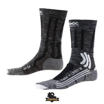 X-Socks TREK X LINEN - Chaussettes Femme gris/noir