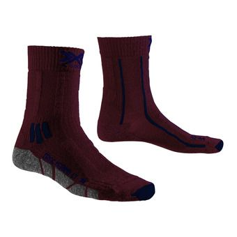 X-Socks TREK X MERINO LIGHT - Socks - dark ruby