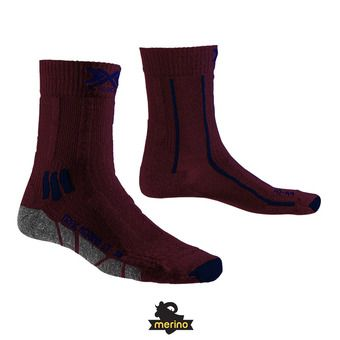 X-Socks TREK X MERINO LIGHT - Chaussettes dark ruby