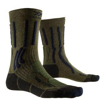 X-Socks TREK X CTN - Calcetines caqui oscuro/azul