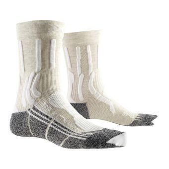 X-Socks TREK X CTN - Chaussettes Femme blanc/anthracite