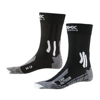 X-Socks TREK OUTDOOR - Calcetines negro/gris