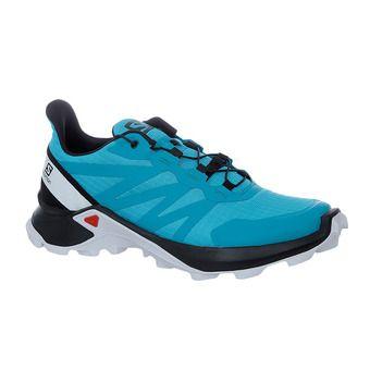 Salomon SUPERCROSS - Chaussures trail Femme bluebird/black/white