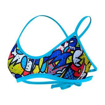 Top de bikini mujer MOJAVE TIEBACK blue/multi