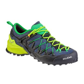 Salewa WILDFIRE EDGE - Chaussures approche Homme ombre blue/fluo yellow