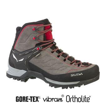 Salewa MTN TRAINER GTX - Chaussures randonnée Homme charcoal/papavero