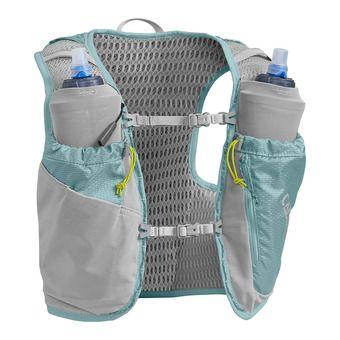 Gilet d'hydratation femme 6L ULTRA™ PRO + 2 flasques 0.5L QUICK STOW™ aqua sea/silver