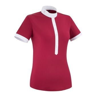 Horse Pilot AEROLIGHT - Show Polo Shirt - Women's - ruby