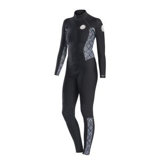 Rip Curl DAWN PATROL - Traje 4/3mm mujer black/white