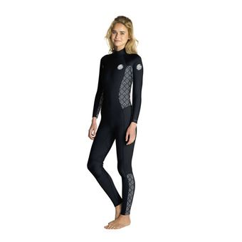 Rip Curl DAWN PATROL - Traje 3/2mm mujer black/white