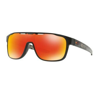 Oakley CROSSRANGE SHIELD - Lunettes de soleil matte black prizmatic/prizm ruby