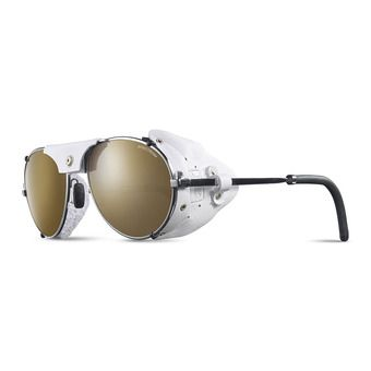 Julbo CHAM - Sunglasses - chrome white/brown flash silver
