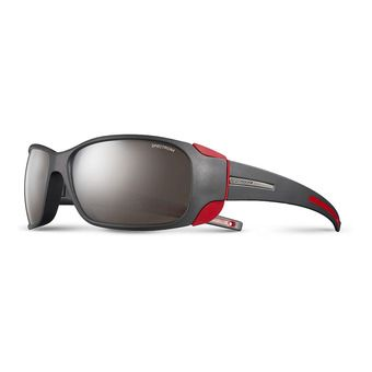 Julbo MONTEBIANCO - Sunglasses - matt black/red/flash silver
