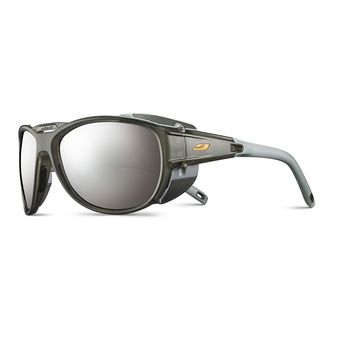 Julbo EXPLORER 2.0 - Sunglasses - translucent matt grey/orange/flash silver