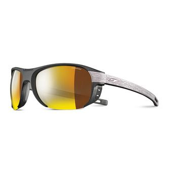 Julbo REGATTA - Gafas de sol polarizadas black/wood/multilayer gold