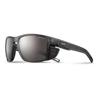 Julbo SHIELD - Sunglasses - transluscent black gun/flash silver