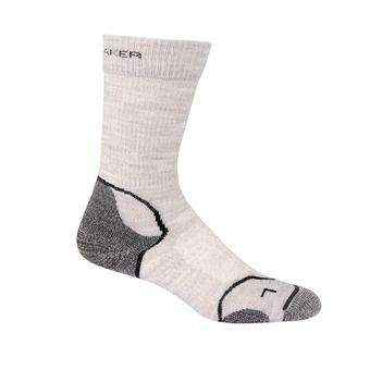 Icebreaker HIKE+ LIGHT CREW - Socks - Women's - blizzard hthr/white/oil