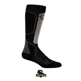 Calcetines de esquí hombre SKI+ LIGHT OTC oil/black/silver