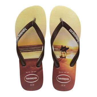 Havaianas HYPE - Flip-Flops - Men's - sand grey/dark brown