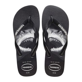 Havaianas TOP PHOTOPRINT - Flip-Flops - Men's - black/black/grey