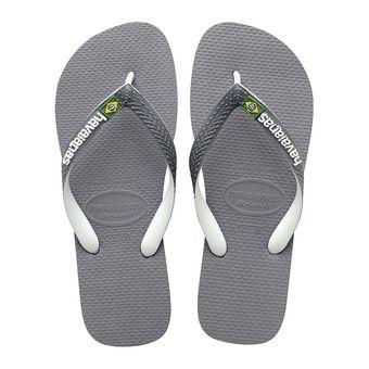 Havaianas BRASIL MIX - Flip-Flops - grey/white/white