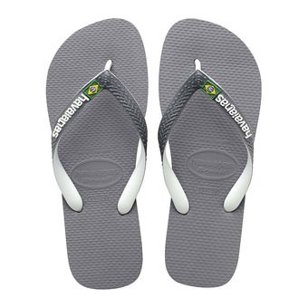Havaianas BRASIL MIX - Tongs grey/white/white