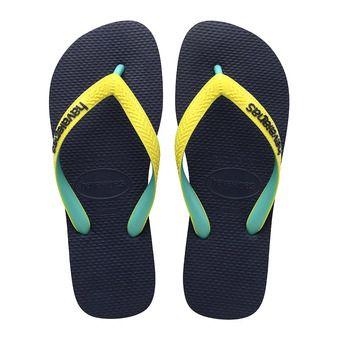 Tongs TOP MIX navy/neon yellow