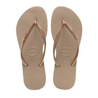 Havaianas SLIM - Flip-Flops - Women's - pink gold
