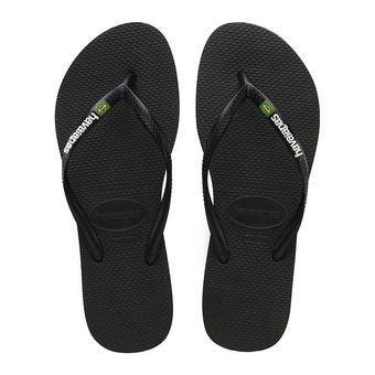 Havaianas SLIM BRASIL - Flip-Flops - Women's - black