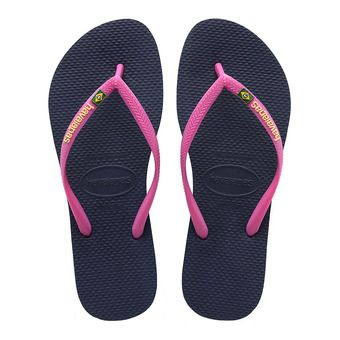 Havaianas SLIM BRASIL - Flip-Flops - Women's - navy blue