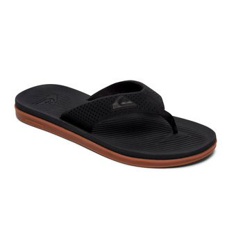Quiksilver HALEIWA PLUS - Tongs Homme black/black/brown