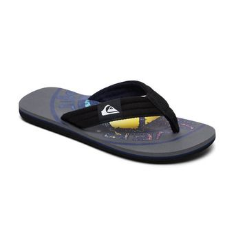 Quiksilver MOLOKAI LAYBACK - Tongs Homme grey/black/blue