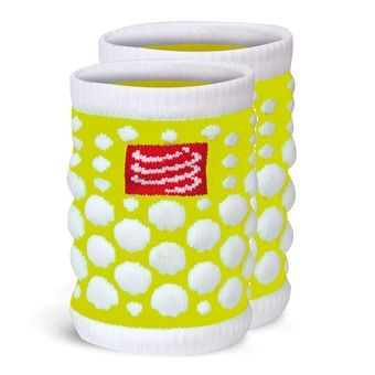 Compressport SWEAT 3D - Poignets-éponges jaune fluo