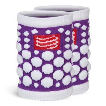 Poignets éponges SWEAT 3D violet fluo