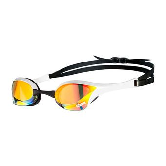 Arena COBRA ULTRA SWIPE MIRROR - Swimming Goggles - yellow copper/white