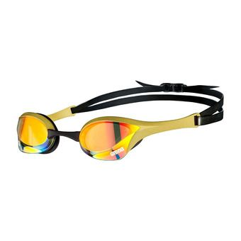 Arena COBRA ULTRA SWIPE MIRROR - Swimming Goggles - yellow copper/gold