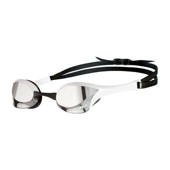 Arena COBRA ULTRA SWIPE MIRROR - Swimming Goggles - silver/white
