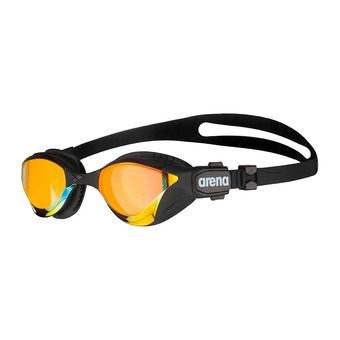 Arena COBRA TRI SWIPE MIRROR - Lunettes de natation yellow copper/black