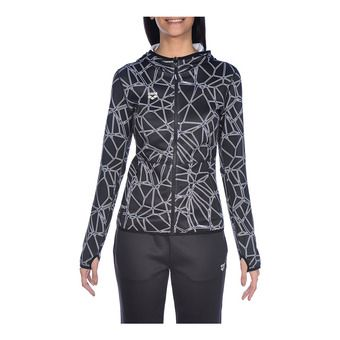 Arena HOODED SPACER REVERSIBLE - Sudadera mujer carbonics pro/white