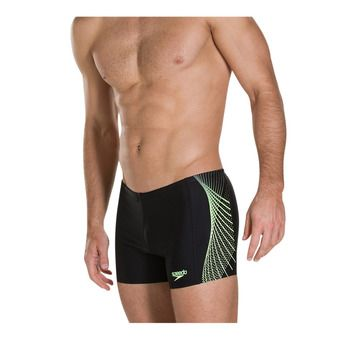 Speedo PLACEMENT - Boxer de bain Homme black/yellow