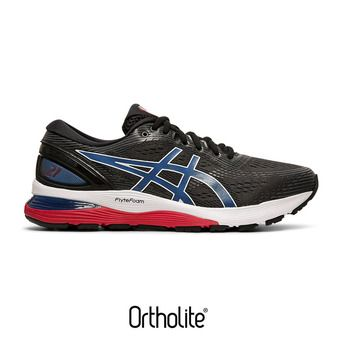 Asics GEL-NIMBUS 21 - Chaussures running Homme black/electric blue